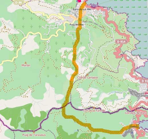 Karte Chemin Walter Benjamin