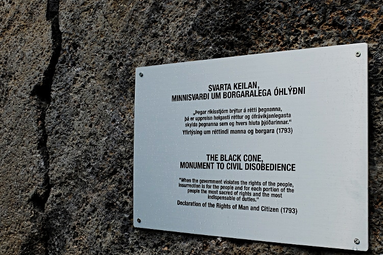 The Black Cone Monument to Civil Disobedience, Reykjavik Iceland