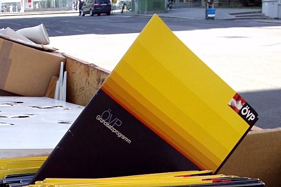 ÖVP Grundsatzprogramm landet nach der Wahl im Müll