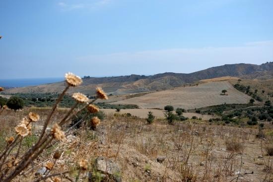Blick von Riace Sopra auf das Ionische Meer
