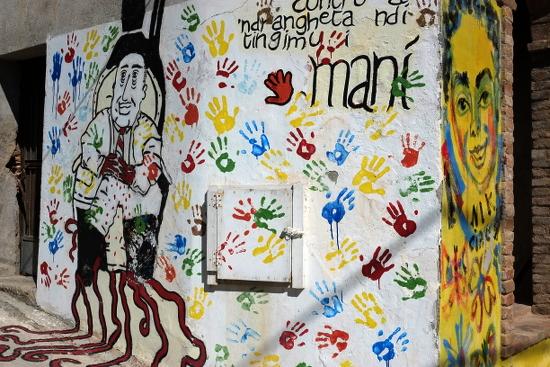 Anti-Ndrangheta-Graffiti in Riace