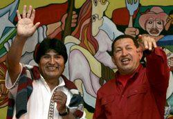 Evo Morales und Hugo Chavez in Wien