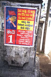 Aufruf zum 1. Mai, Kandy, Sri Lanka