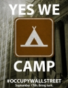 Yes We Camp, OWS