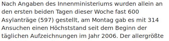 """""""Höchststand seit dem Beginn der täglichen Aufzeichnungen"""" Screenshot: orf.at"""