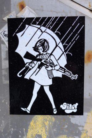 Poster in Donostia.
