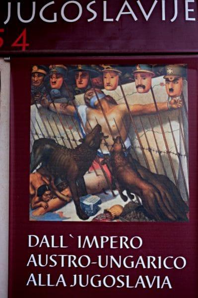 Linker Nationalismus im Kampf gegen den österreichisch-ungarischen Imperialismus? Der Ausgang ist bekannt. Diese Abteilung des Regionalmuseums Koper / Kapodistria ist bis auf weiteres geschlossen.