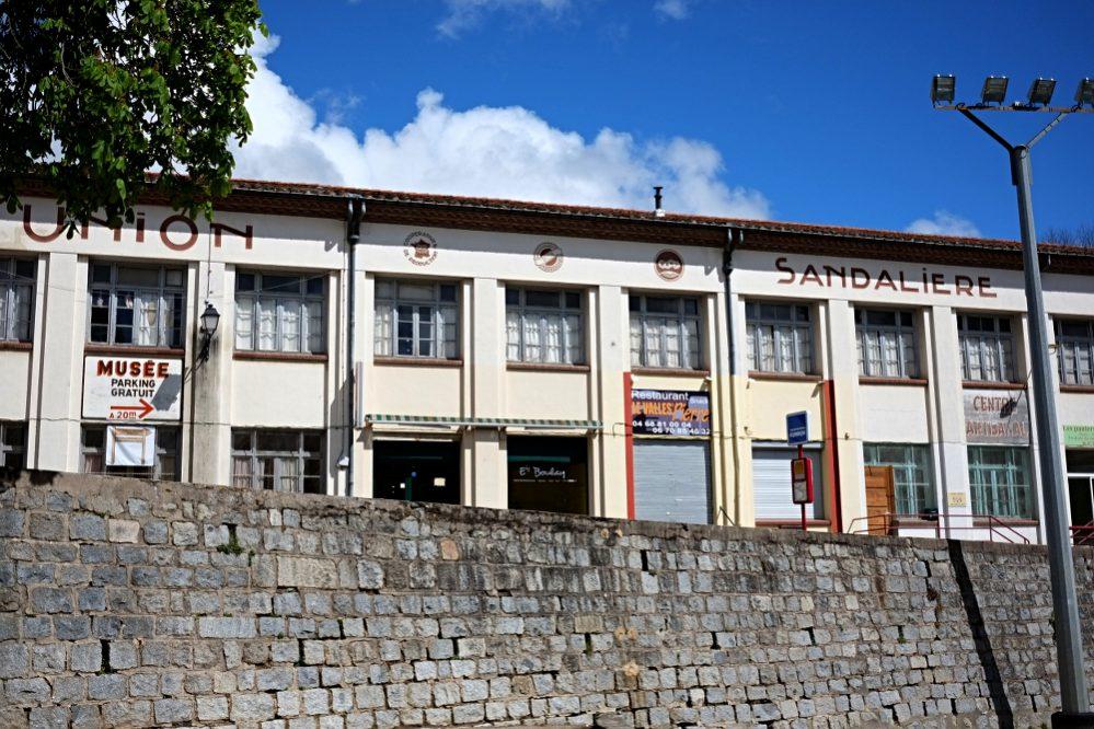 Die ehemalige Fabrik der Genossenschaft L'Union Sandalière im Pyrenäenort Saint-Laurent-de-Cerdans