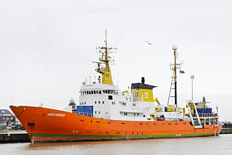 Seenotrettungsschiff Aquarius von Ärzte ohne Grenzen Foto: Ra Boe / Wikipedia Lizenz: [CC BY-SA 3.0 de (https://creativecommons.org/licenses/by-sa/3.0/de/deed.en)